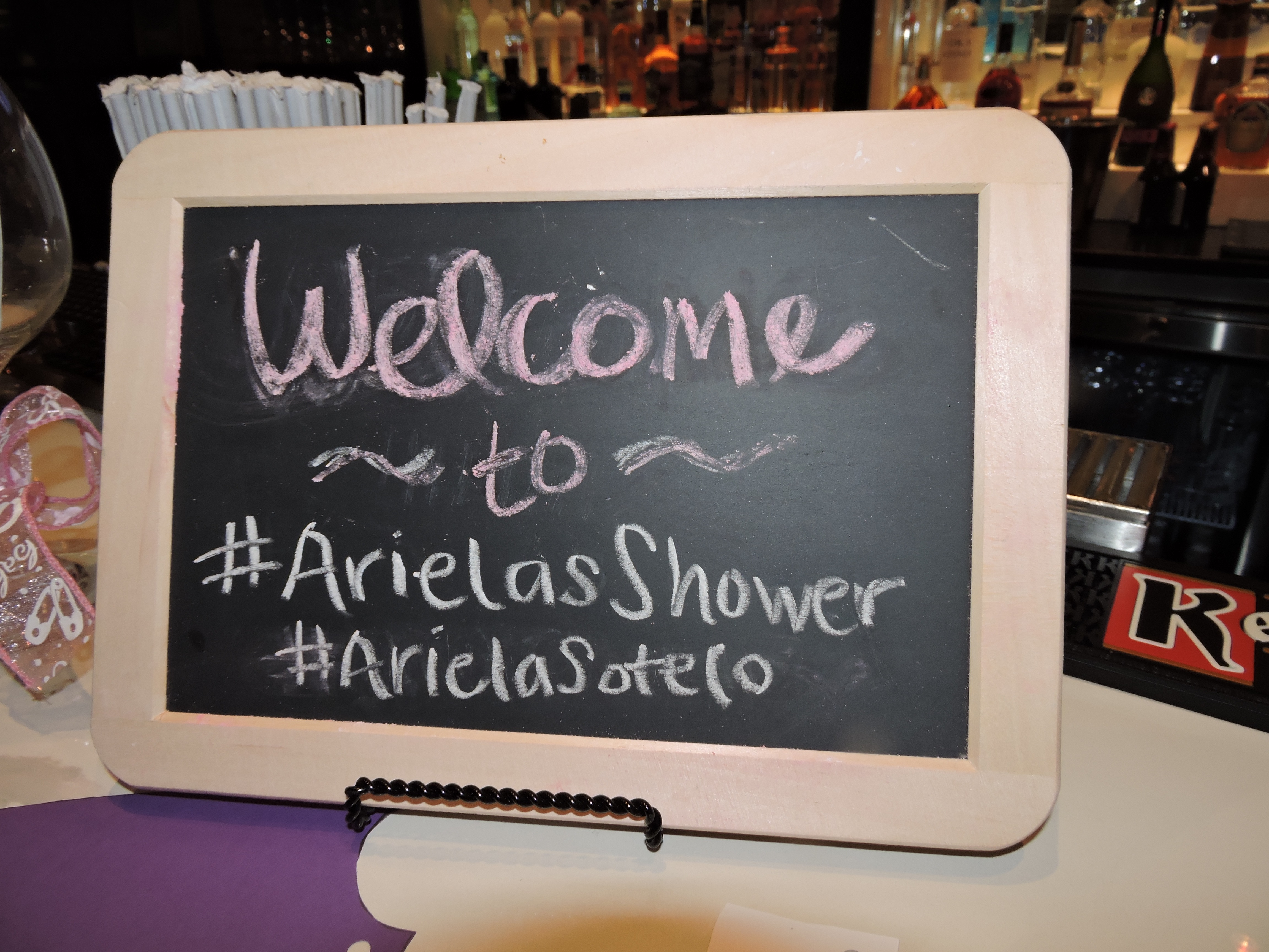 welcome to Arielas shower sign