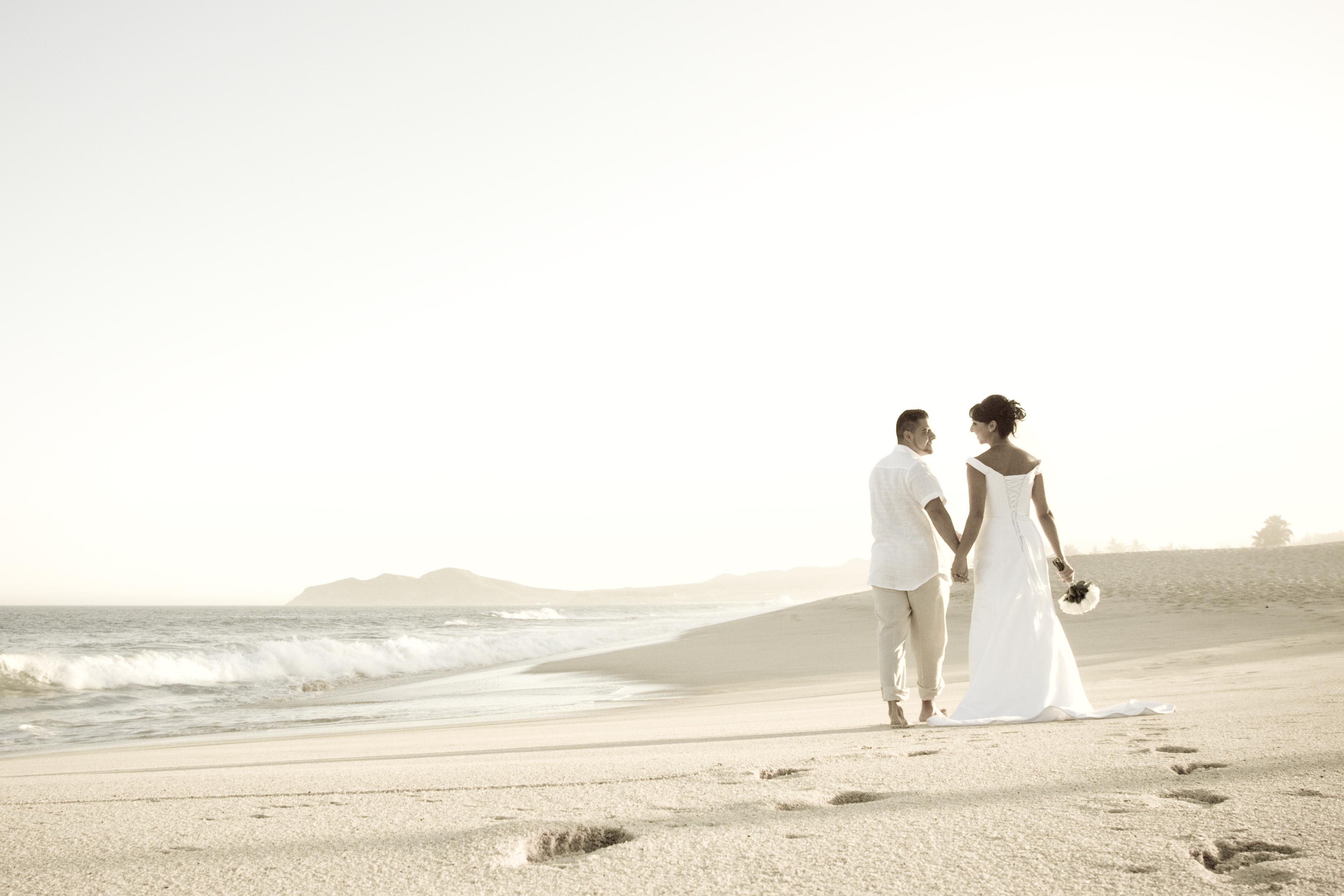 walking with you wedding photo